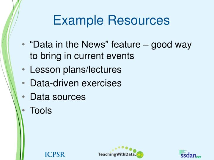 Example Resources