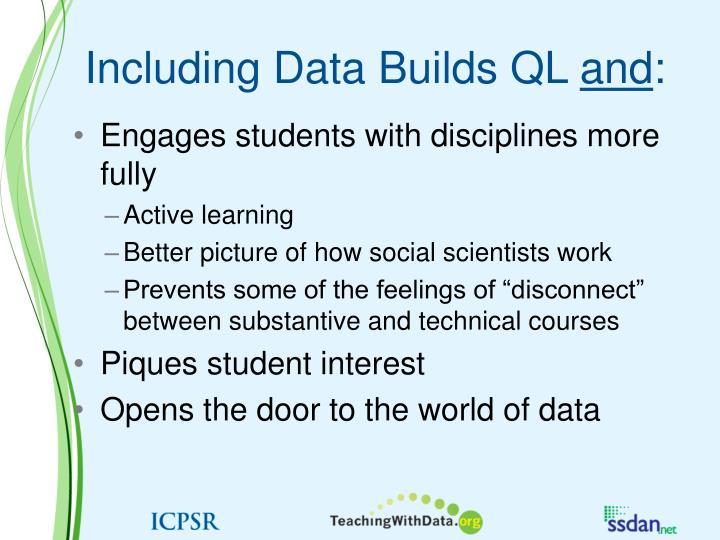 Including Data Builds QL