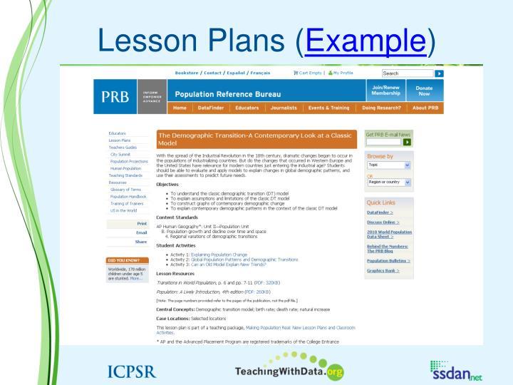 Lesson Plans (