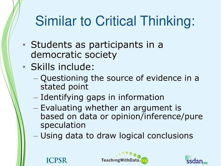 Similar to Critical Thinking: