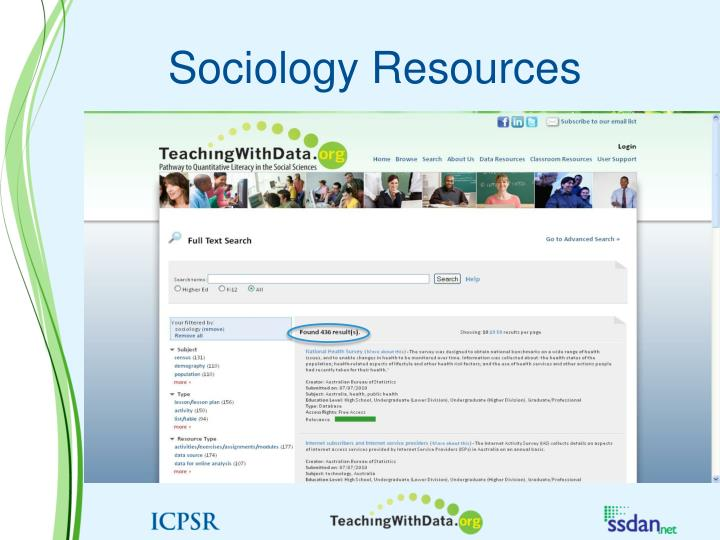 Sociology Resources