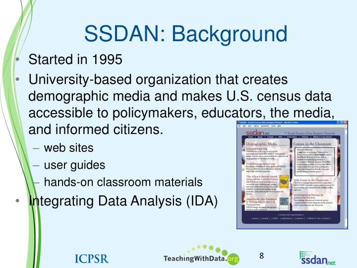 SSDAN: Background