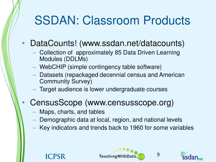 SSDAN: Classroom Products