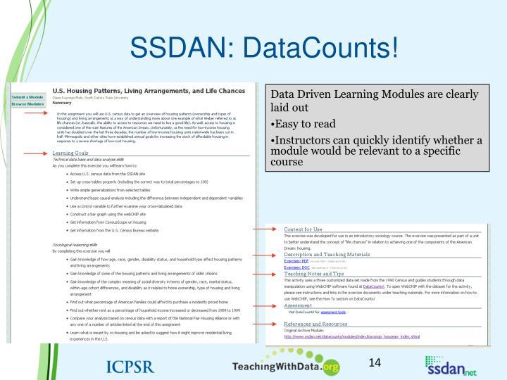 SSDAN: DataCounts!