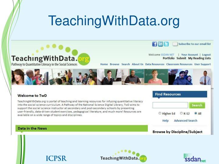 TeachingWithData.org