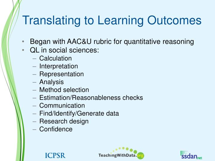 Translating to Learning Outcomes