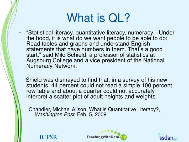 What is QL?
