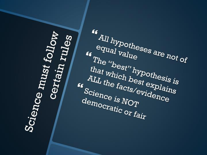 All hypotheses are not of equal value