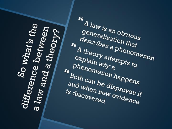 A law is an obvious generalization that