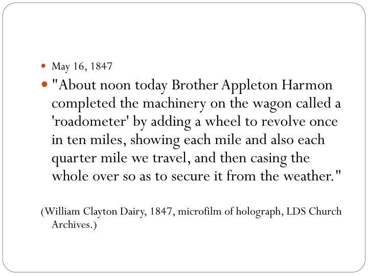 May 16, 1847