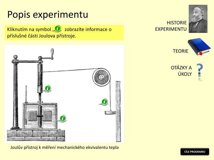 Popis experimentu