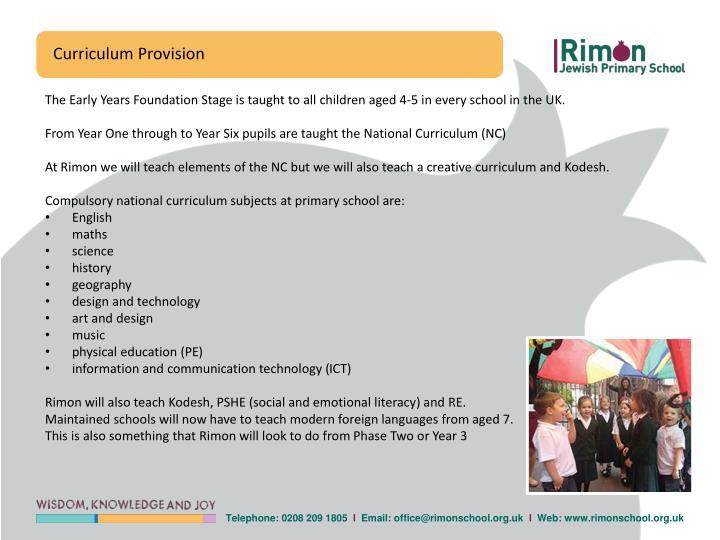 Curriculum Provision