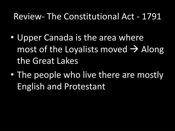 Review the constitutional act 1791