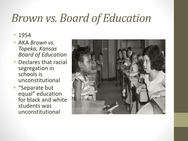 brown vs board of education thesis