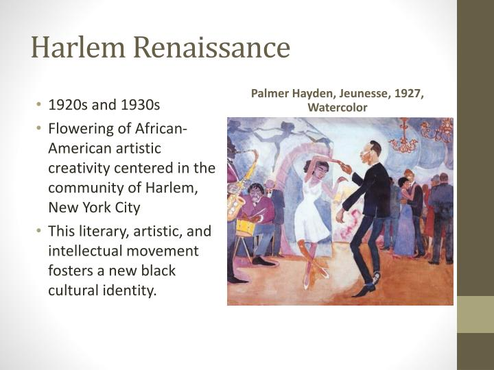 an analysis of the african american cultural movement of the 1920s and early 1930s Community during the 1920s and early 1930s  acting as a catalyst for future african american culture  harlem renaissance- black cultural movement in.