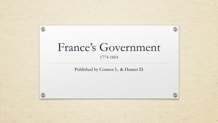France's Government