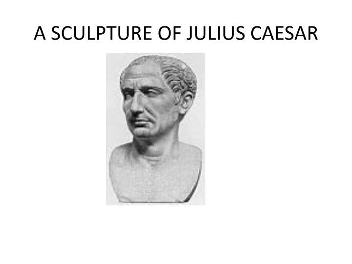 A SCULPTURE OF JULIUS CAESAR