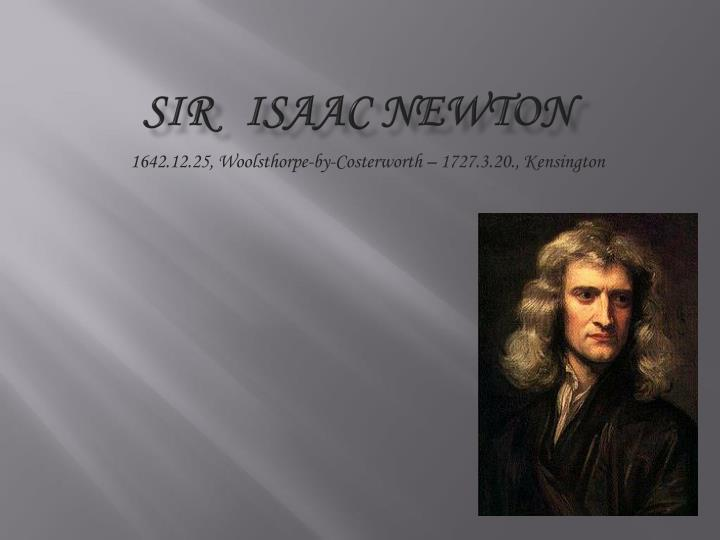 short essay on sir isaac newton
