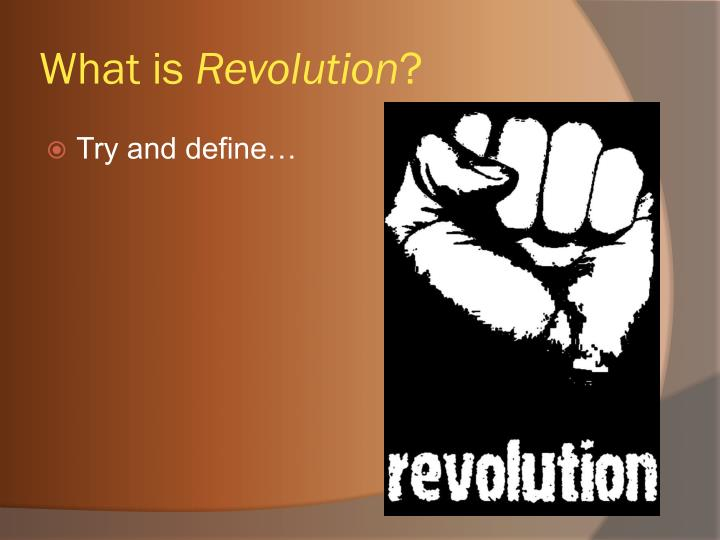 What is revolution