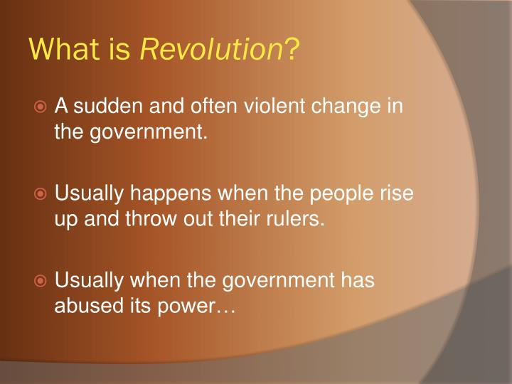What is revolution1