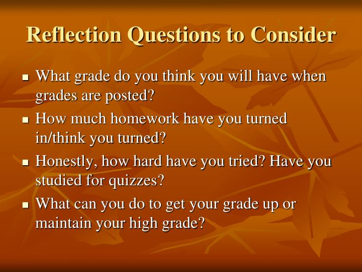 Reflection Questions to Consider