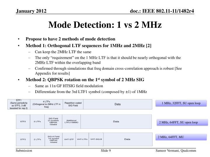 Propose to have 2 methods of mode detection