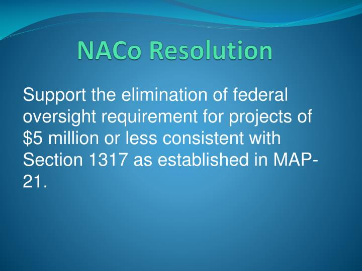 NACo Resolution