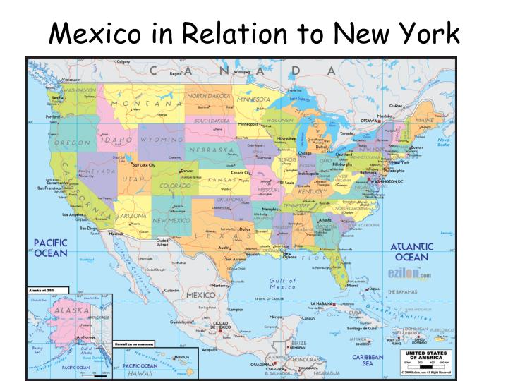 Mexico in Relation to New York