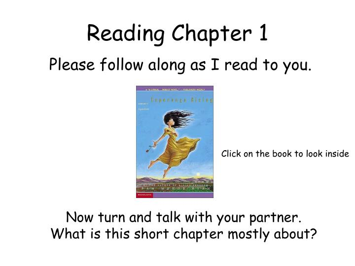 Reading Chapter 1