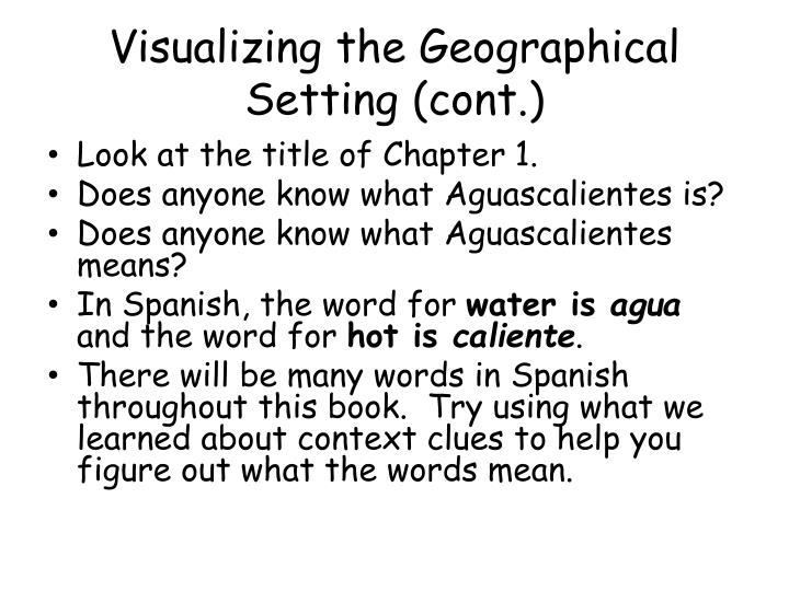 Visualizing the Geographical