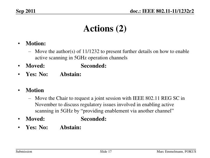 Actions (2)