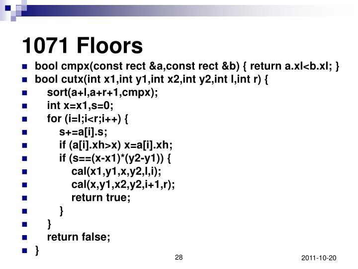 1071 Floors
