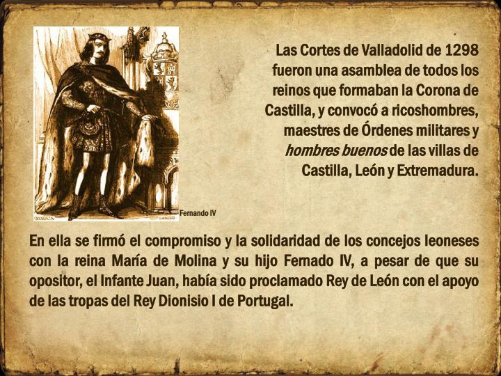 Las Cortes de Valladolid de 1298
