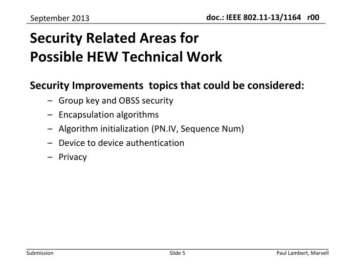 Security Improvements