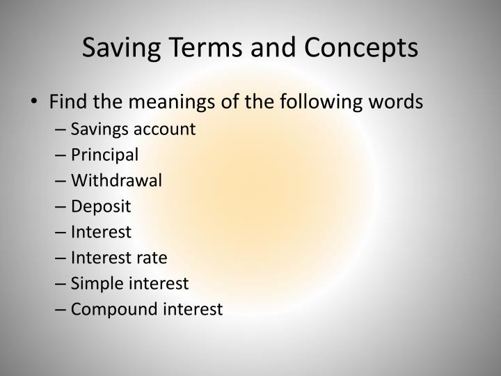 Saving Terms and Concepts