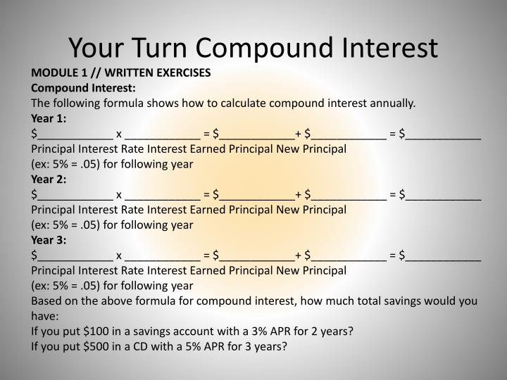 Your Turn Compound Interest