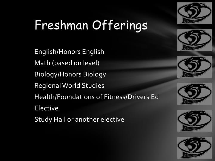 Freshman Offerings