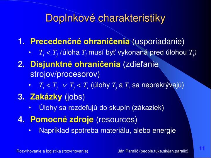Doplnkové charakteristiky