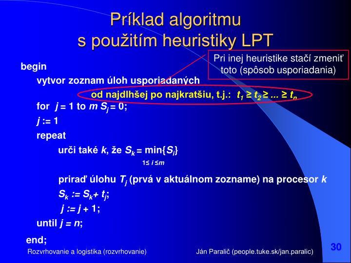 Príklad algoritmu