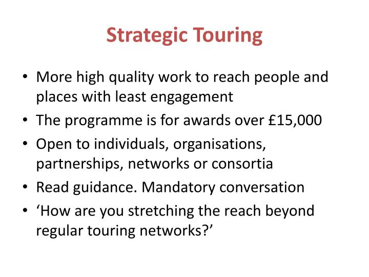 Strategic Touring