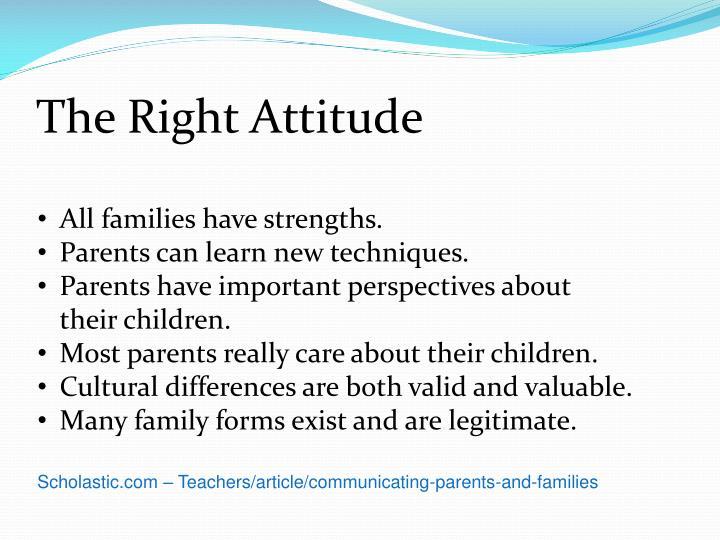 The Right Attitude