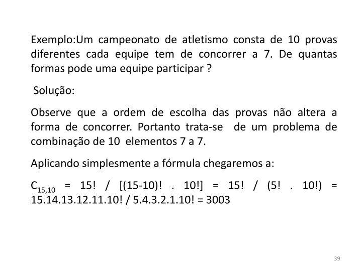 Exemplo:Um