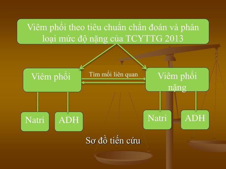 Viêm phổi theo tiêu chuẩn chẩn đoán và phân loại mức độ nặng của TCYTTG 2013