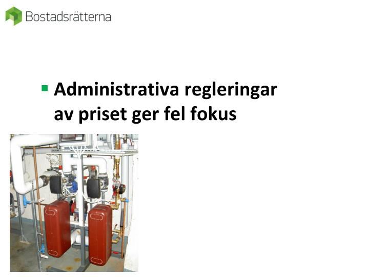 Administrativa regleringar