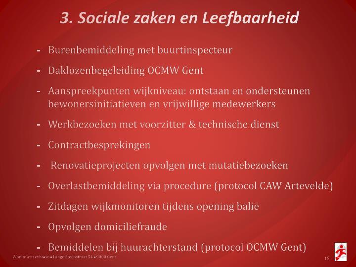 3. Sociale zaken en Leefbaarheid