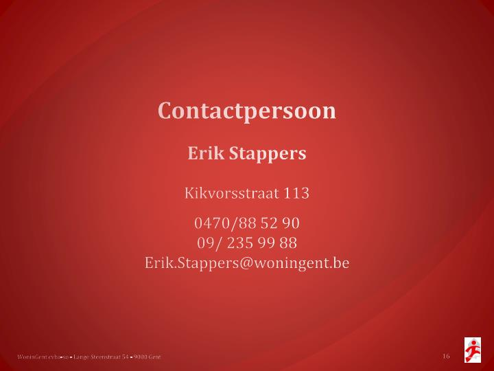 Contactpersoon