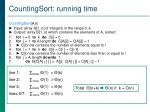 countingsort running time