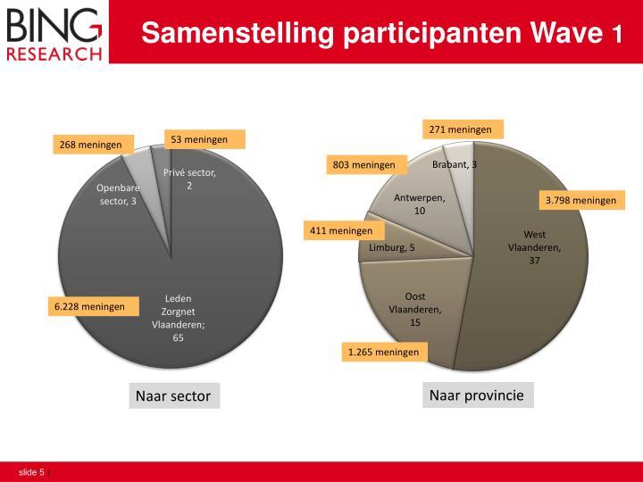 Samenstelling participanten Wave