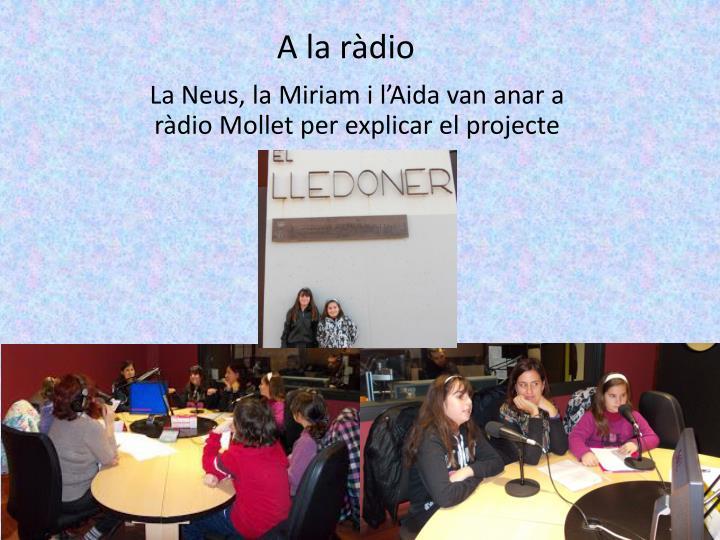 A la ràdio