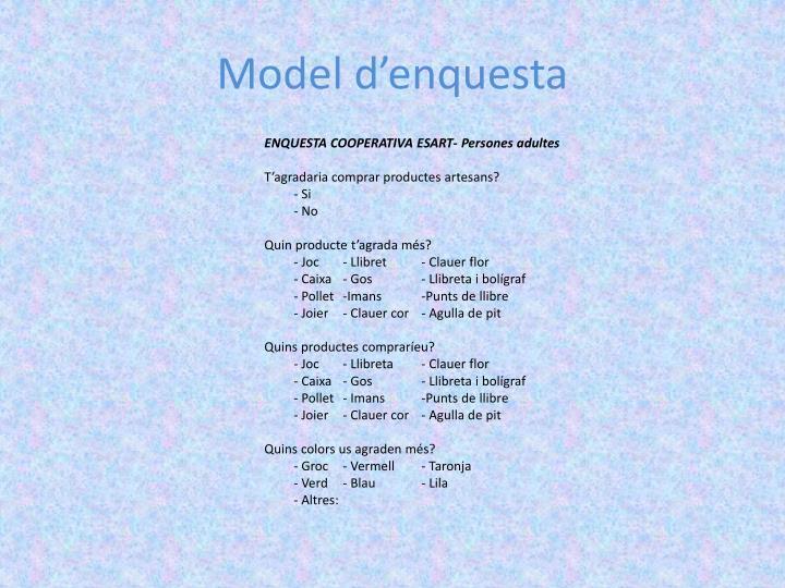 Model d'enquesta